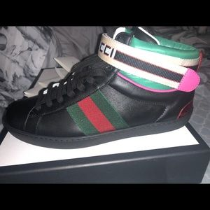 Gucci stripe ace high top sneaker